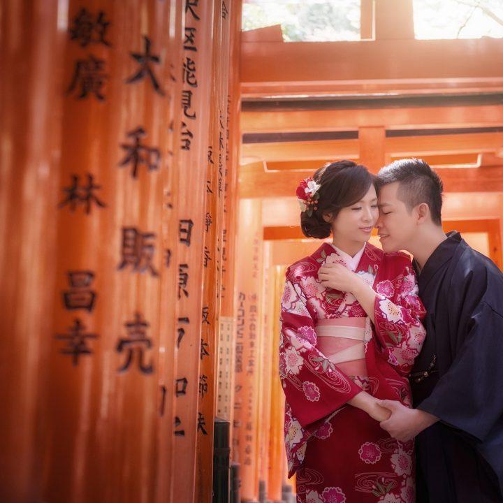 海外婚紗|日本京都櫻花婚紗二
